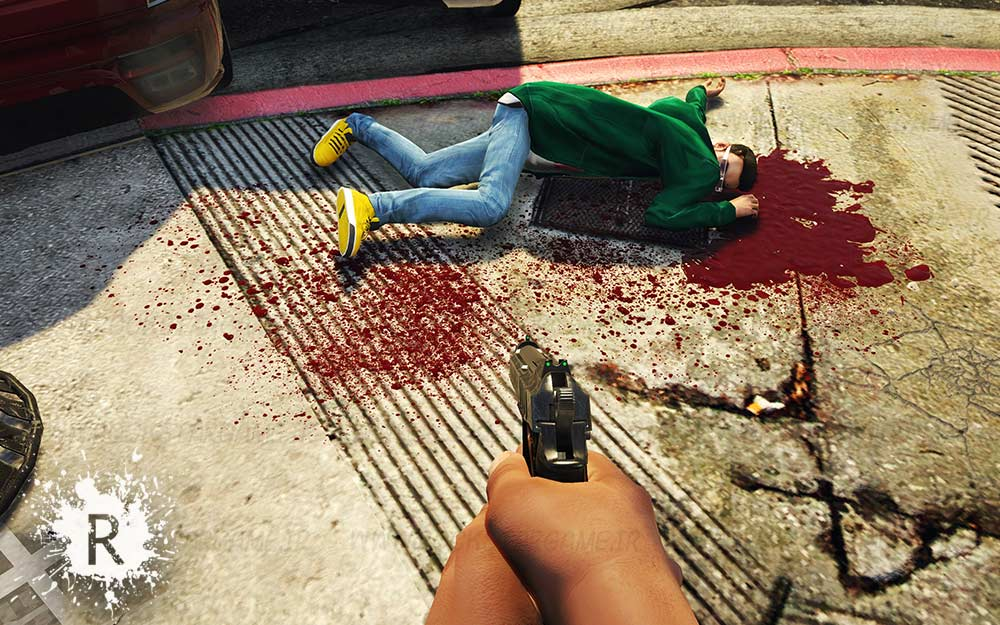 blood 4k gta v